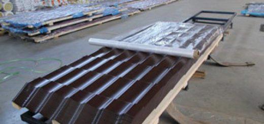 Особенности транспортировки металлочерепицы
